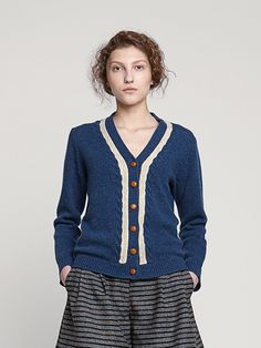 Image of Bobbi Shetland Wool Cardigan- Was £160 -