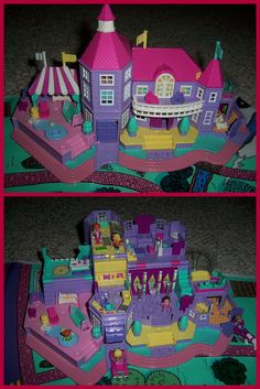 Polly Pocket Mansion - I adored this toy, it lit up as well. Reminds me of Christmas long past!