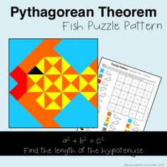 Pythagorean Theorem Proof: Squares Manipulative Activity by The ...