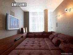 An awesome entertainment room idea