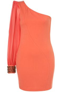 EMBELLISHED CUFF DRESS BY RARE**    Price: $78.00  Colour: CORAL  Item code: 62S48YCOR