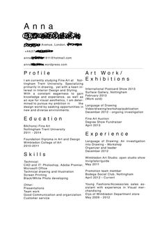Textiles  Example Cv  Cvs    Cv Examples And Creative Cv