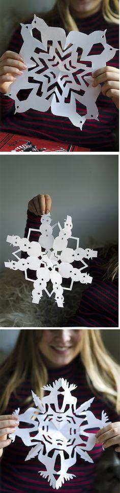 Snowflake Patterns: Swedish Dala Horse, Moose, Snowman | willowday