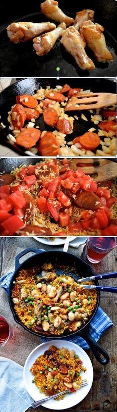 Easy Chicken Chorizo Paella Recipe by the Woks of Life