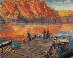size: Stretched Canvas Print: Bon Echo Canvas Art by Arthur Lismer : Artists Using advanced technology, we print the image directly onto canvas, stretch it onto support bars, and finish it with hand-painted edges and a protective coating. Tom Thomson, Emily Carr, Canadian Painters, Canadian Artists, Group Of Seven Artists, Jackson, Painting Edges, Print Artist, Stretched Canvas Prints