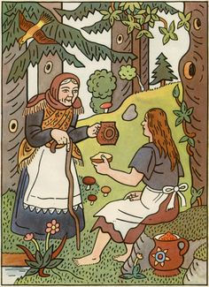 Illustration by Josef Lada for the book Pohadky (by K. Children's Book Illustration, Golden Age, Childrens Books, Illustrators, Folk Art, The Past, Clip Art, Comics, Artist