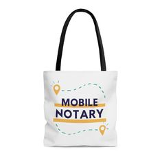 Excited to share this #mobilenotary tote bag from my Etsy shop. #notarypublic Mobile Notary, Notary Public, Business Tips, Reusable Tote Bags, Etsy Shop