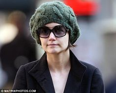 Time for tea? Katie Holmes appears to have reused a cosy as a hat ...