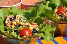 Salata de ton, o salata usoara de vara  #RIOMare #Insalatissime Fruit Salad, Cobb Salad, Potato Salad, Cooking Recipes, Potatoes, Mexican, Fish, Ethnic Recipes, Romania