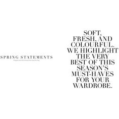 Spring Statements for Men's Folio Singapore by Ivanho Harlim ❤ liked on Polyvore featuring text, words, magazine, backgrounds, fillers, articles, quotes, embellishment, detail and phrase