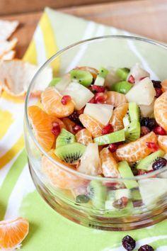 Zimowa sałatka owocowa czyli nasza bomba witaminowa ⋆ M&M COOKING Dessert Recipes, Desserts, Fruit Salad, Salads, Healthy Recipes, Healthy Food, Food And Drink, Baking, Cake