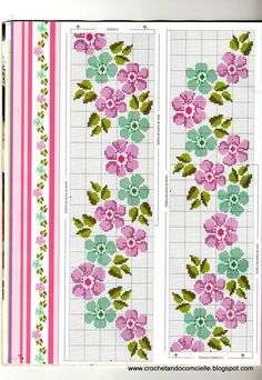 Brilliant Cross Stitch Embroidery Tips Ideas. Mesmerizing Cross Stitch Embroidery Tips Ideas. Cute Cross Stitch, Cross Stitch Borders, Cross Stitch Flowers, Cross Stitch Charts, Cross Stitch Designs, Cross Stitching, Cross Stitch Embroidery, Embroidery Patterns, Hand Embroidery