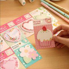 4 pçs/lote coração kawaii bloco de notas bloco de notas de papel notas post papeleria escola em Bloco de notas de Escritório & material escolar no AliExpress.com | Alibaba Group