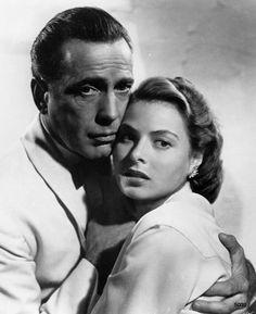Humphrey Bogart et Ingrid Bergman dans Casablanca en 1942 Casablanca Film, Ingrid Bergman Casablanca, Casablanca Quotes, Humphrey Bogart, Bogie And Bacall, Swedish Actresses, Love Film, Celebrity Couples, Vintage Movies