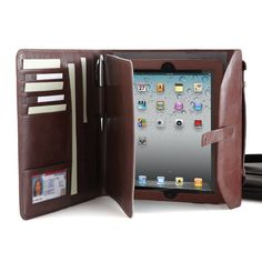 Briefcase and portfolio for iPad® , iPad 2 and All-New iPad tablets. Brookstone