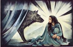 Huan found Luthien, and after a time swore his allegiance to her, and was the reason that she managed to save Beren and fulfill her mission as she had intended.  Without him, and despite her magic, she would not have managed to fight and defeat her many enemies.