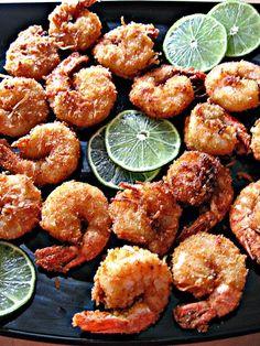 ~ Coconut and Lime Battered Shrimp ~