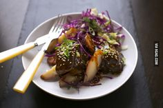 Braised Short Ribs with Beer and Hoisin, Fingerling Potatoes and Asian Cabbage Slaw