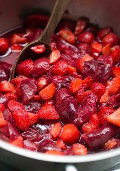 Plum Strawberry Jam recipe