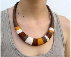 Collar Marrón tonos tierra collar para otoño collar por estudioshop