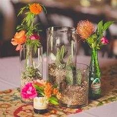 mexican style wedding centerpiece   Mexican Themed Centerpieces