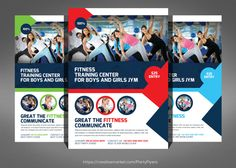 Fitness Training Center Flyer by Party Flyers on @creativemarket