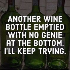 They're hard to find in beer, too. But I think I caught a glimpse of one near the bottom of a bottle of Irish whiskey. I just can't remember. Great Quotes, Funny Quotes, Inspirational Quotes, Humor Quotes, Badass Quotes, Sarcastic Quotes, Wine Jokes, Wine Funnies, Wine Signs