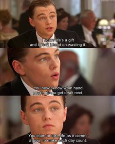 Leonardo DiCaprio as Jack Dawson in Titanic