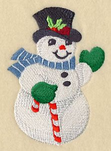 Dashing Snowman design (H9065) from www.Emblibrary.com