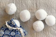 Felt snowball fight. Link to blog has free printable pattern to sew the snowballs from four football shaped pieces of felt.