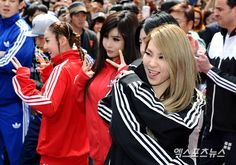 2NE1 at Renewal Open Event for the 1st Adidas Store