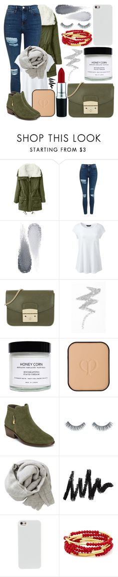 """#51"" by oneandonlyfashion ❤ liked on Polyvore featuring Topshop, Clé de Peau Beauté, Lands' End, Furla, NYX, Honey Corn, Aerosoles, Napoleon Perdis, Brunello Cucinelli and Chrysalis"