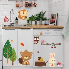 Animaux de la forêt de Bande Dessinée Stickers Muraux Enfants