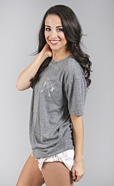 5806cd61 charlie southern: state arrow tri-blend tee - texas Texas Shirts, Long  Sleeve