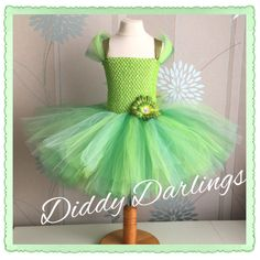A personal favourite from my Etsy shop https://www.etsy.com/uk/listing/217925876/tinker-bell-tutu-dress-inspired-handmade