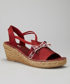 Take a look at this Burgundy Ida Wedge Sandal by Toni Pons on #zulily today!