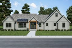 This modern farmhouse plan features an open floor plan that feels stylish and cool. Don't miss the cool detached garage with a loft! Questions? Call 1-800-447-0027 today. #architect #architecture #buildingdesign #homedesign #residence #homesweethome #dreamhome #newhome #newhouse #foreverhome #interiors #archdaily #modern #farmhouse #house #lifestyle #design #buildersareessential