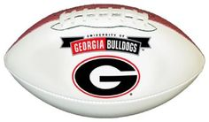 Amazon.com: Georgia Bulldogs Official Size Synthetic Leather Autograph Football: Sports & Outdoors