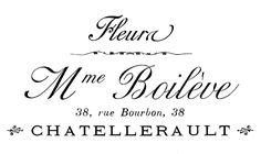 Transfert imprimable - typographie française - vendeur de fleur - la fée de graphiques