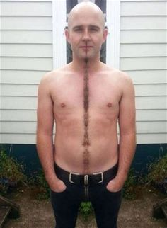 Happy Trails Divider - How To Trim Your Beard Mustache Chest Hair in Straight Line ---- best hilarious jokes funny pictures walmart humor fail