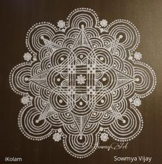 South Indian Rangoli, Indian Rangoli Designs, Beautiful Rangoli Designs, Kolam Designs, Kolam Dots, Alpona Design, Padi Kolam, Rangoli Patterns, Free Hand Drawing