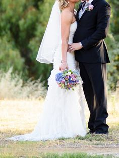 A perfectly matched veil & dress