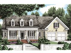 086H-0041: Country Southern House Plan with Bonus Space Southern House Plans, Family House Plans, Best House Plans, Country House Plans, Duplex House Plans, Floor Framing, Floor Layout, Architectural Features, Build Your Dream Home