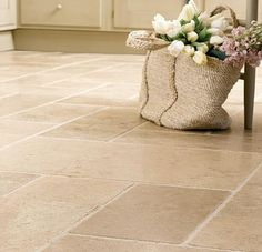 Natural Stone Flooring Ideas Benefits Of Natural Stone Tiles Natural Stone Flooring Ideas. Exterior natural stone tiles are being used for several decades now and they are getting more and more pop… Travertine Floors, Natural Stone Flooring, Slate Flooring, Bathroom Flooring, Kitchen Flooring, Flooring Ideas, Garage Flooring, Natural Stone Tiles, Bathroom Tiling