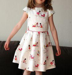 For Zoe - Burda dress 152 9/2012 love this choice of fabric.