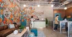 View the full picture gallery of WeWork Yunnan Road, Shanghai Best Office, Beam Structure, Times Square, Interior Architecture, Interior Design, Shops, Lounge, Old Building, Office Walls