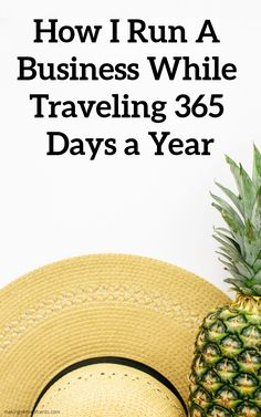 How I Run A Business While Traveling 365 Days a Year Small Business Marketing, Business Tips, Online Business, Digital Nomad, How To Become, How To Make Money, Earn Money Fast, Ways To Be Happier, Entrepreneur Ideas