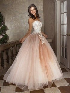 Stylish traditional quinceanera dress
