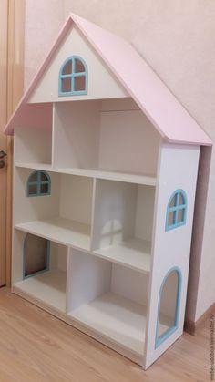 Купить Шкаф - домик детский - белый, домик, домик для кукол, домик для детей, для девочки