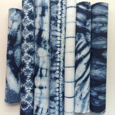 Indigo dyed Shibori Fabric bundle